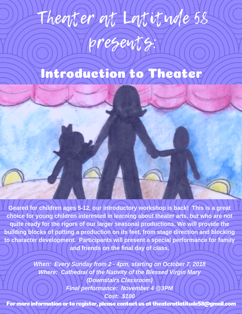 Introduction to Theater, Registration open now!